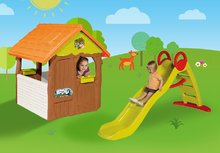 Domčeky so šmykľavkou - Set domček Máša a medveď Smoby s kvetináčom a šmykľavka Toboggan Funny vlnkovitá s dĺžkou 2 m od 24 mes_5