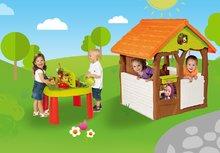 Domčeky sety - Set domček Máša a medveď Smoby s kvetináčom a stôl Záhradník De Jardinage od 24 mes_24