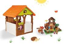 Domčeky sety - Set domček Máša a medveď Smoby s kvetináčom a stavebnica PlayBIG Bloxx domček 162 dielov od 24 mes_3