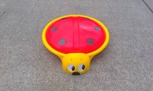 Pískoviště pro děti Beruška Starplast s krytem objem 60 litrů od 2 let červeno-žluté