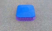 Pieskoviská pre deti - Pieskovisko Starplast štvorcové s krytom objem 60 litrov fialovo-modré od 24 mes_2