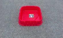 Pieskoviská pre deti - Pieskovisko Starplast štvorcové s krytom objem 60 litrov červeno-zelené od 24 mes_5