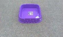 Pieskoviská pre deti - Pieskovisko Starplast štvorcové s krytom objem 60 litrov fialovo-červené od 24 mes_1