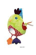 Hračky nad postieľku - Plyšové kuriatko Colors-My Activity Chick Kaloo vibrujúce s hrkálkou a hryzátkom 30 cm pre najmenších_4
