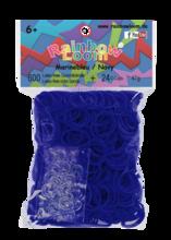 Rainbow Loom originalne prosojne gumice 600 kosov oceansko modre od 6 leta