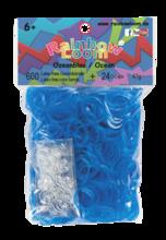Rainbow Loom originalne prosojne gumice 600 kosov svetlo modre od 6 leta