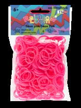 Rainbow Loom originalne gumice 300 kosov neon rožnate od 6 leta