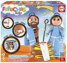 Stílusos játékbabák Fofuchas Szent család Betlehemben Educa Öltöztesd fel magad 6 éves kortól