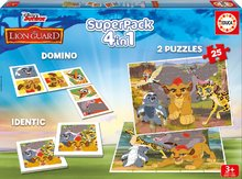 Detské puzzle Superpack Leví Kráľ Disney 4v1Educa puzzle, domino a pexesso