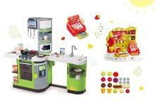 Set kuchynka pre deti CookMaster Verte Smoby s ľadom a zvukmi a zmrzlináreň Ice Cream