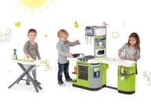 Kuchynky pre deti sety - Set kuchynka CookMaster Verte Smoby s ľadom a zvukmi a žehliaca doska so žehličkou Clean_22