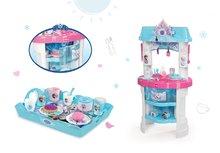 Kuchynky pre deti sety - Set kuchynka Frozen Smoby s trblietkami a čajová súprava Frozen na tácke_18