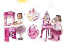 Kuchynky pre deti sety - Set kuchynka Disney Princezné Smoby s hodinami a kozmetický stolík so stoličkou_19
