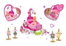 Set opatrovateľský kútik pre bábiku Minnie Smoby elektronický s tabletom a bábikou a 3 šatôčky
