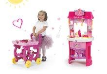 Kuhinje za djecu setovi - Set kuhinja Disney Princeze Smoby sa satom i čajni servis na kolicima_17