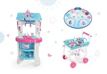 Kuchynky pre deti sety - Set kuchynka Frozen Smoby s trblietkam a čajová súprava na servírovacom vozíku_17