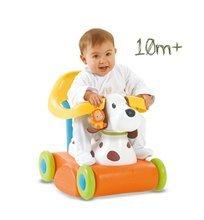 Babytaxiuri de la 10 luni - Babytaxiu căţeluş Cotoons Smoby portocaliu-galben de la 10 luni_0
