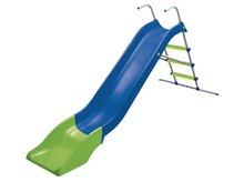 Šmykľavky pre deti  - Šmykľavka Starplast dĺžka 300 cm s kovovou konštrukciou zeleno-oranžová_1