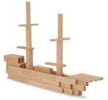 Dřevěné stavebnice Eichhorn - Dřevěné kostky stavební Wooden Construction Kit Eichhorn přírodní dřevo 200 dílů od 2 let_2