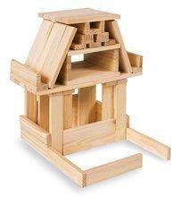 Dřevěné stavebnice Eichhorn - Dřevěné kostky stavební Wooden Construction Kit Eichhorn přírodní dřevo 200 dílů od 2 let_3