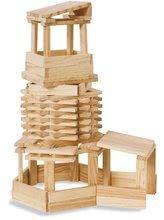 Dřevěné stavebnice Eichhorn - Dřevěné kostky stavební Wooden Construction Kit Eichhorn přírodní dřevo 200 dílů od 2 let_4