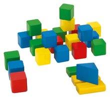 Dřevěné kostky - Dřevěné kostky Wooden Toy Blocks Eichhorn barevné 85 dílů v různých tvarech od 12 měsíců_1