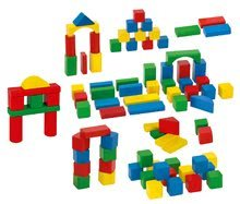 Dřevěné kostky - Dřevěné kostky Wooden Toy Blocks Eichhorn barevné 85 dílů v různých tvarech od 12 měsíců_5