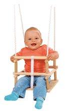Ljuljačke  - Drvena ljuljačka Wooden Baby Swing Outdoor Eichhorn prirodna dužine 140-210 cm sa sjedalicom 30*30 cm i 20 kg nosivosti od 12 mjeseci_1