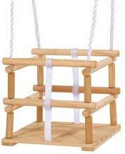 Ljuljačke  - Drvena ljuljačka Wooden Baby Swing Outdoor Eichhorn prirodna dužine 140-210 cm sa sjedalicom 30*30 cm i 20 kg nosivosti od 12 mjeseci_6