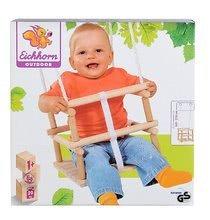 Ljuljačke  - Drvena ljuljačka Wooden Baby Swing Outdoor Eichhorn prirodna dužine 140-210 cm sa sjedalicom 30*30 cm i 20 kg nosivosti od 12 mjeseci_7