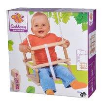 Ljuljačke  - Drvena ljuljačka Wooden Baby Swing Outdoor Eichhorn prirodna dužine 140-210 cm sa sjedalicom 30*30 cm i 20 kg nosivosti od 12 mjeseci_8