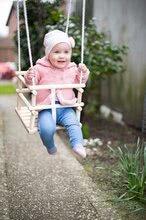 Ljuljačke  - Drvena ljuljačka Wooden Baby Swing Outdoor Eichhorn prirodna dužine 140-210 cm sa sjedalicom 30*30 cm i 20 kg nosivosti od 12 mjeseci_0