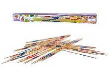 Spoločenské hry pre deti - Drevené mikádo Outdoor Eichhorn farebný bambus 41 paličiek 50 cm dlhé_3