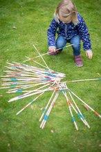 Spoločenské hry pre deti - Drevené mikádo Outdoor Eichhorn farebný bambus 41 paličiek 50 cm dlhé_0