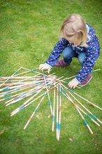 Spoločenské hry pre deti - Drevené mikádo Outdoor Eichhorn farebný bambus 41 paličiek 50 cm dlhé_4