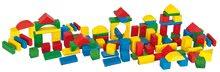 Dřevěné kostky - Dřevěné kostky barevné Coloured Wooden Blocks Eichhorn různé tvary 100 kusů velikost 25 mm od 12 měsíců_1