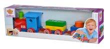 Dřevěné kostky - Dřevěný vláček s kostkami Coloured Train Eichhorn lokomotiva s 2 vagony 7 dílů od 12 měsíců_3