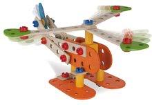 Dřevěné stavebnice Eichhorn - Dřevěná stavebnice letadlo dvojplošník Constructor Biplane Eichhorn čtyři modely (dinosaur, dvojplošník, motorka, hydroplán) 90 dílů od 4 let_4
