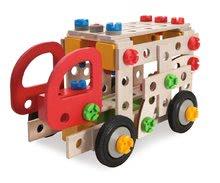Dřevěné stavebnice Eichhorn - Dřevěná stavebnice požárník Constructor Fire Truck Eichhorn tři modely (požárník, sanitka, policie) 155 dílů od 5 let_2