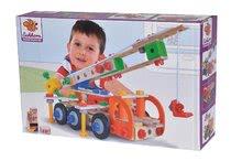 Dřevěné stavebnice Eichhorn - Dřevěná stavebnice pracovní stroje Constructor Tool Box Eichhorn autojeřáb džíp nákladní auto a služební auto 170 dílů od 6 let_6