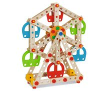 Dřevěné stavebnice Eichhorn - Dřevěná stavebnice lunapark Constructor Big Wheel Eichhorn 3 modely (lunapark, maják, lanovka) 240 dílů od 6 let_1