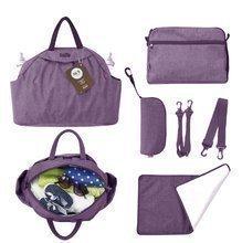 100104 Prebaľovacia taška toT's-smarTrike Chic fialová 5v1 s vnútornou taškou a termoobalom na fľašu + doplnkami 45*14*32 cm