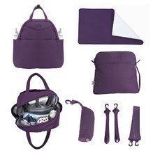 Pelenkázótáska Infinity 5in1 toTs-smarTrike belső táskával és termikus cumisüvegtartóval lila