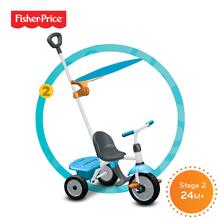 Trojkolky od 10 mesiacov - Trojkolka Fisher-Price Jolly Plus smarTrike modro-oranžová od 12 mes_3