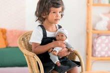 Bábiky od 18 mesiacov - Bábika Bébé Calin Marius Corolle s čiernymi klipkajúcimi očami a fazuľkami 30 cm od 18 mes_0