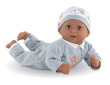 Bábiky od 18 mesiacov - Bábika Bébé Calin Marius Corolle s čiernymi klipkajúcimi očami a fazuľkami 30 cm od 18 mes_3