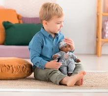 Bábiky od 18 mesiacov - Bábika Bébé Calin Marius Corolle s čiernymi klipkajúcimi očami a fazuľkami 30 cm od 18 mes_5