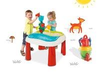 Set stôl pre deti Voda&Piesok 2v1 Smoby s mlynom, otvorom na slnečník a vedro set s krhlou od 18 mesiacov