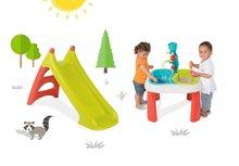 Set stůl pro děti Voda & Písek 2v1 Smoby s mlýnem a skluzavka Toboggan XS s vodou délka 90 cm od 18 měsíců