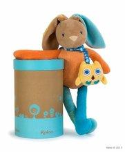 KALOO 963270 plyšový zajačik na maznanie s hudbou COLORS-MUSICAL BABY DOUDOU RABBIT 37 cm z jemného plyšu v darčekovej krabič